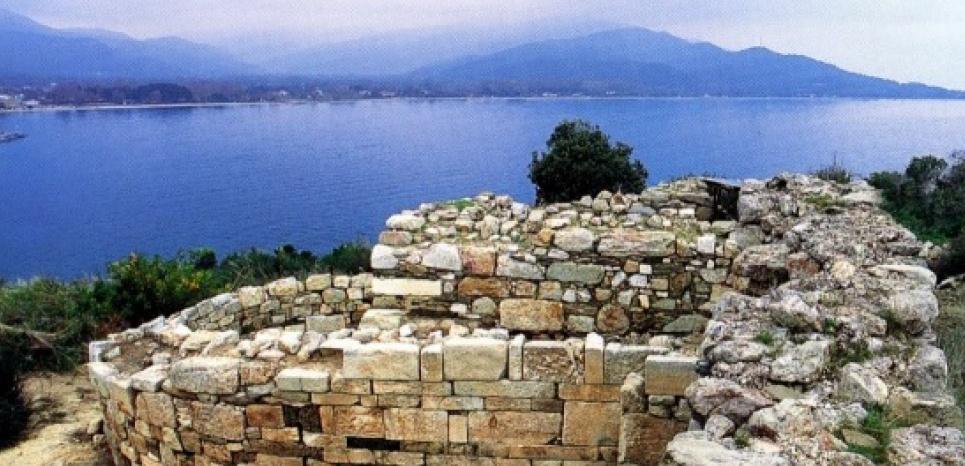 Site de Stagire, en Chalcidique, dans le nord de la Grèce, où aurait été découvert le tombeau d'Aristote. CREDIT: EFE Athènes