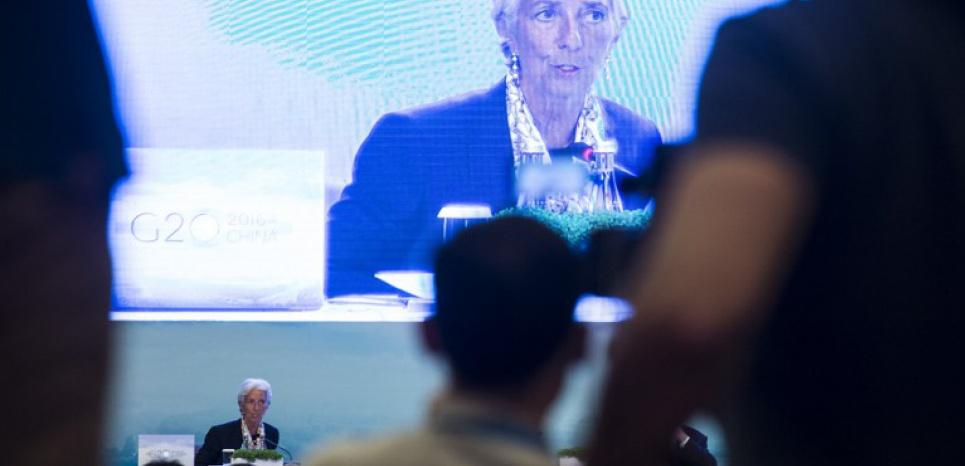 Christine Lagarde, patronne du FMI, au rendez-vous des pays du G20 en Chine Fred Dufour/Afp
