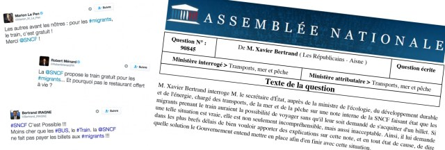 Les politiques FN et LR s'insurgent contre les transports gratuits pour les migrants