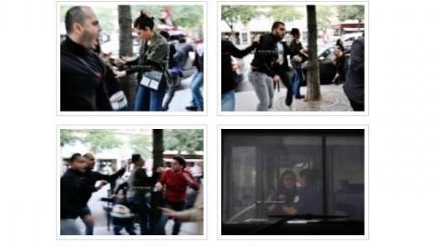 Les affrontements place du Chatelet le 26 août sur Facebook (DR)
