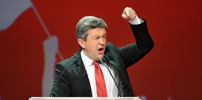 Le candidat du Front de gauche Jean-Luc Mélenchon, le 27 mars 2012, à Lille. PHILIPPE HUGUEN / AFP