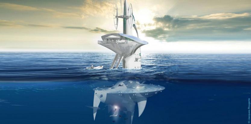 """Le projet de """"vaisseau des abysses"""" Sea Orbiter, financé par le """"crowdfunding"""". (Sea Orbiter)"""