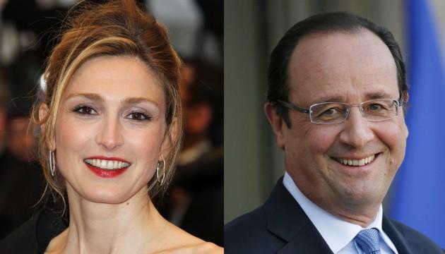 L'actrice Julie Gayet et le Président Fraçois Hollande