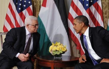 Mahmoud Abbas et Barack Obama, réunion le 21/09/2011 / MANDEL NGAN/AFP
