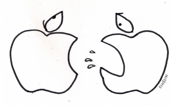 DESSIN. iPhone 5 d'Apple : les pommes de la colère dans
