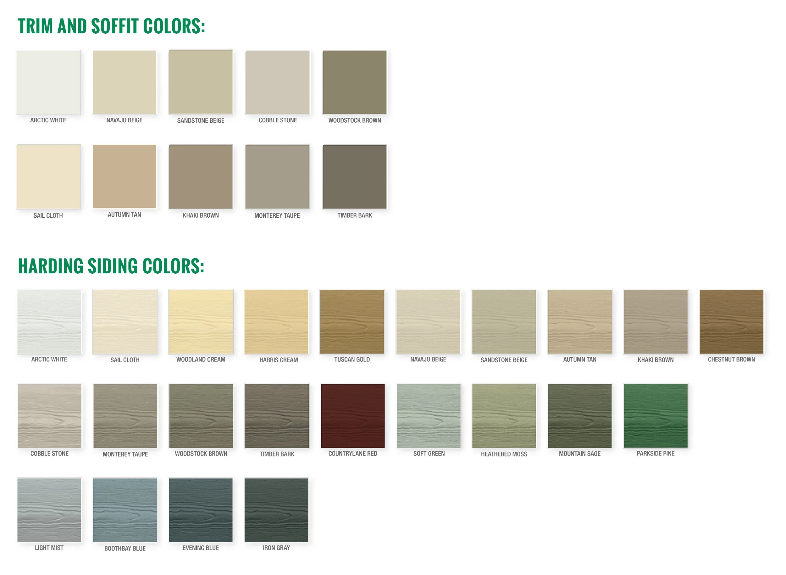 Cement Board Siding Colors