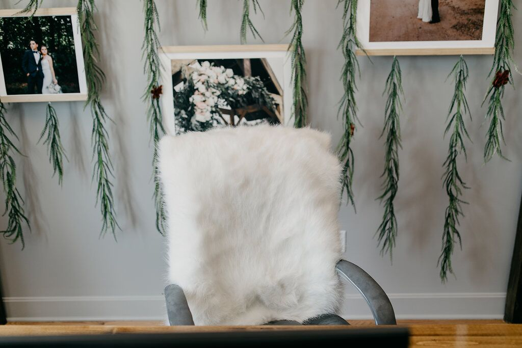 Fur office desk chair