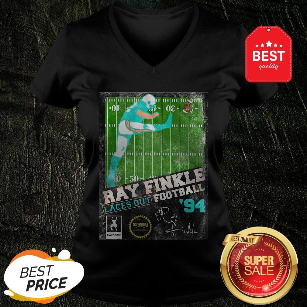 Official Ray Finkle Laces Out Football Signature V-Neck