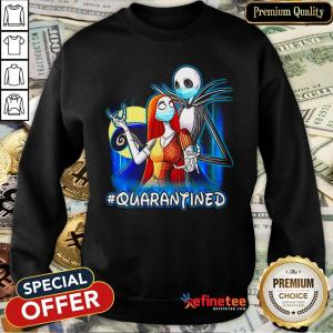 Top Jack And Sally Quarantined Sweatshirt - Design By Refinetee