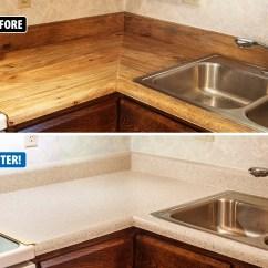 Kitchen Countertop Refinishing Blanco Meridian Semi Professional Faucet Services Kansas City