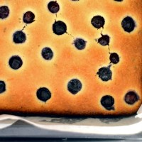 A New Beginning / Lemon, Blueberry & Thyme Slice