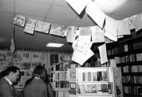 Werksausstellung der reflection press bei Buch Julius, Stuttgart, Mai 1988