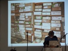 Vortrag von Stéphane Le Mercier, Foto Christa Düwell