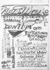 Konzertplakat zum Punk-Festival in Heilbronn-Böckingen am 26.09.1981, gestaltet von Albrecht/d., Sammlung Ralf Siemers
