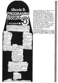 "Blatt im Katalog zur Austtellung ""Art into Society"" ICA London 1974, Sammlung Kolczynski"