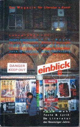 einblick 8, Das Magazin für Literatur & Kunst, Flugasche Verlag 1994, enthält 8 Seiten zu Albrecht/d.
