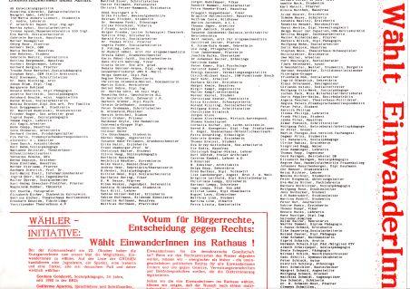 Ausschnitt aus dem Plakat. An Stelle 41 der Erstunterzeichner steht der Name Albrecht/d.