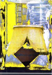 """Blatt aus dem Zyklus """"Ikonen der Trivialität"""", Collage, Computerfarbumwandlung 1986/87"""