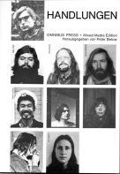 HANDLUNGEN, Omnibus Press + Mixed Media Edition, 1976, Titelblatt mit allen beteiligten Künstlern