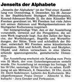 Artikel im Amtsblatt 02.12.1993