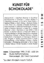 Benefiz-Veranstaltung von Ralf Schmerberg zugunsten von Kindern in Tuzla 1993.