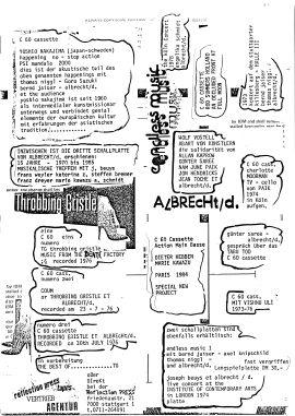 Übersicht über lieferbare Tonträger der reflection press 1987