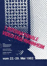 Programm der 1. Internationalen Video-Tage Mannheim