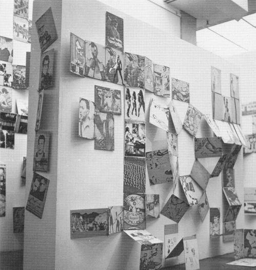 "Ensemble ""Violencia paranoia/Violence permanente"" 1973-78, Biennale de Paris 1977, Abbildung in Katalog Löbach-Hinweiser"