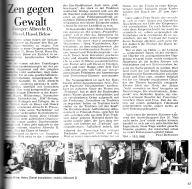 Artikel zur Ausstellung von Albrecht/d. u.a. im Zwinger, St. Wendel 1980