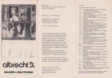 Ausstellungs-Einladung Galerie v. Kolczynski 1977