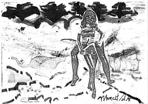 """Blatt zu """"erotique neurotique"""", 1995"""