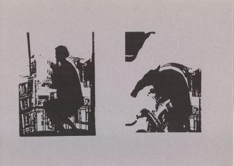 Einladung zum Creativ Workshop am 17.11.1990 im Copy Shop Lautenschlager Strasse. Rückseite