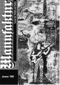 """1992 stellte Albrecht/d. den Zyklus """"Die Schönheit der Waffen..."""" in der """"Manufaktur"""" in Schorndorf aus. Die Eröffnung war am 18. Januar. Die Titelseite des Programmhefts gestaltete Albrecht/d."""
