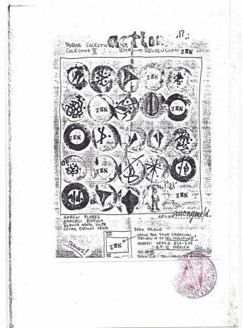 """Kopie eines Beitrags für """"El Colectivo III"""" in Mexico, ca. 1969, Sammlung Ralf Siemers"""