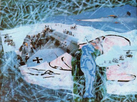 Die Schönheit der Waffen ... Boticelli, Mischtechnik und Collage, 1991