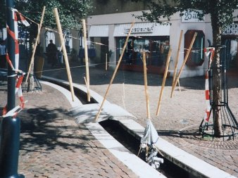 Die wunderbare Welt des Bambus am Limes, Freiluftinstallation in Aalen 1998