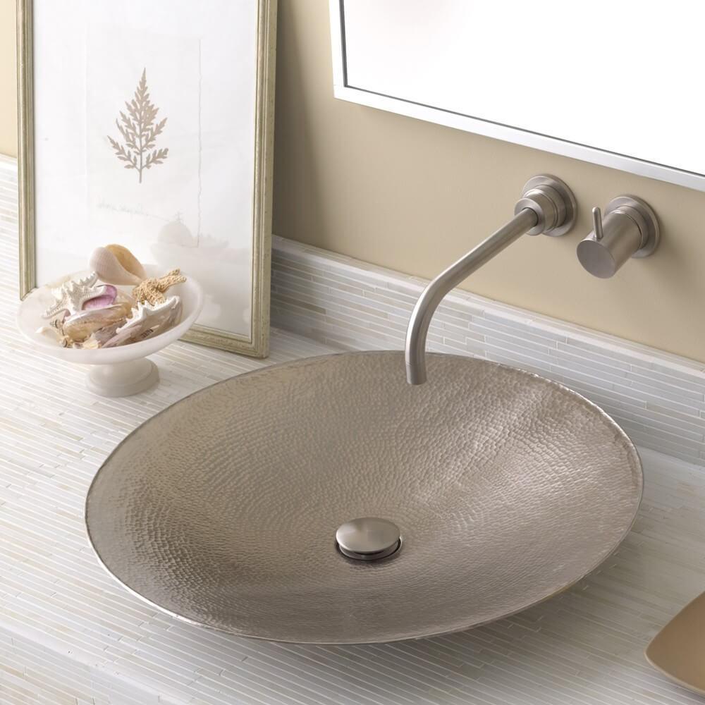 metal vessel sinks bathroom image of