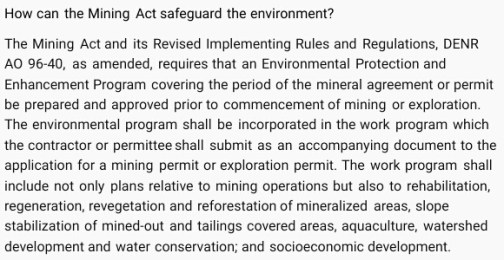 mgb how can mining law safeguard environment