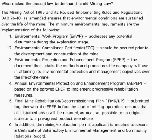 mgb old vs new mining law