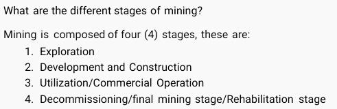 mgb different stages of mining