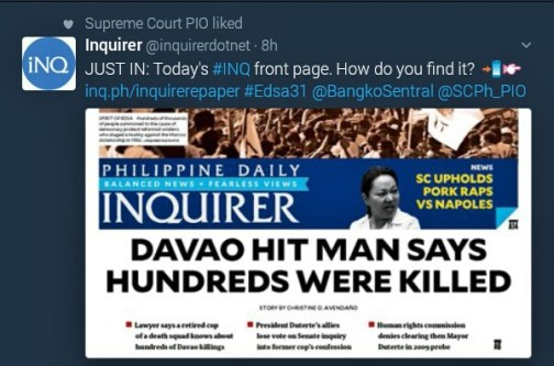 Inquirer front page Davao hit man says hundreds were killed