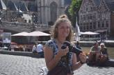 Me with my camera, Ghent, Belgium, July 2016