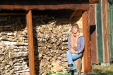 Finsihed building the barn and stacking the firewood! John and Ola's, Poland, September 2016