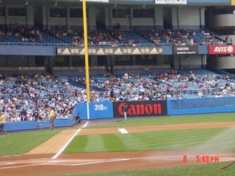 Old Yankee Stadium - down the line. Photo Credit: Steve Contursi