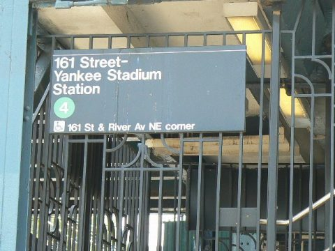 Subway Stop Yankee Stadium (Photo Credit: Steve Contursi)