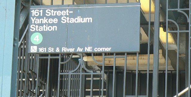 Subway Stop Yankee Stadium (Photo Credit: Steve Contursi)