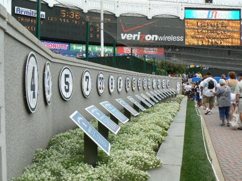 Wall Of Fame, Old Yankee Stadium (Steve Contursi, Reflections On Baseball)