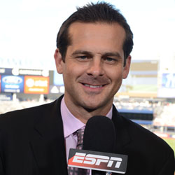 Aaron Boone: He's Come A Long Way Since This Gig Photo: ESPN)