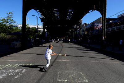 Stickball on NYC Streets