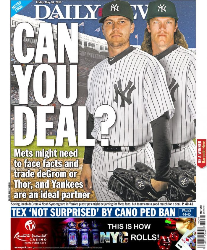 New York Dail;y News Back Page May 19, 2018